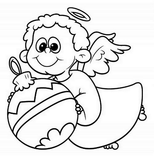 Agenda di margherita angioletti di natale da stampare e for Disegni angeli da colorare gratis