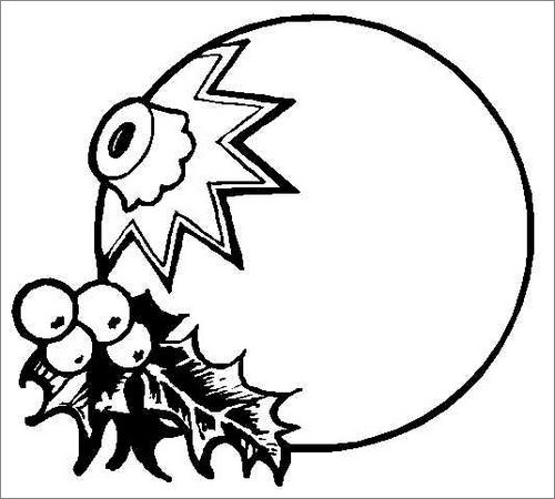 blank ornament coloring pages - photo#17