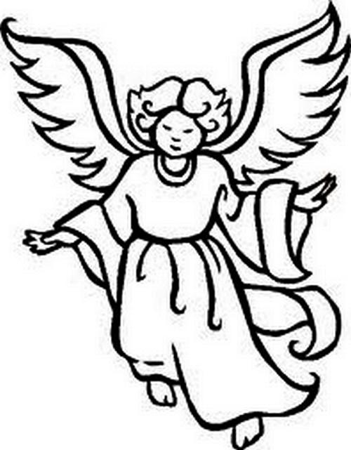 Agenda di margherita angioletti di natale da stampare e for Disegni da colorare angeli