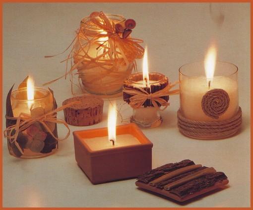 fai da te,candele decorate per le serate di festa,candele decorate ...