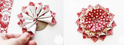 Agenda di margherita decorazioni fiori di carta vari colori - Decorazioni natalizie con tovaglioli di carta ...