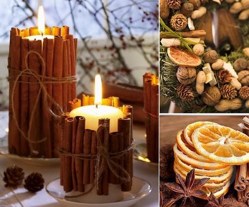 Agenda di margherita decorazioni natalizie con mandarini cannella e anice - Decorazioni natale pigne ...