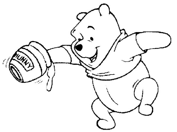 Pooh Honey Pot Coloring Coloring